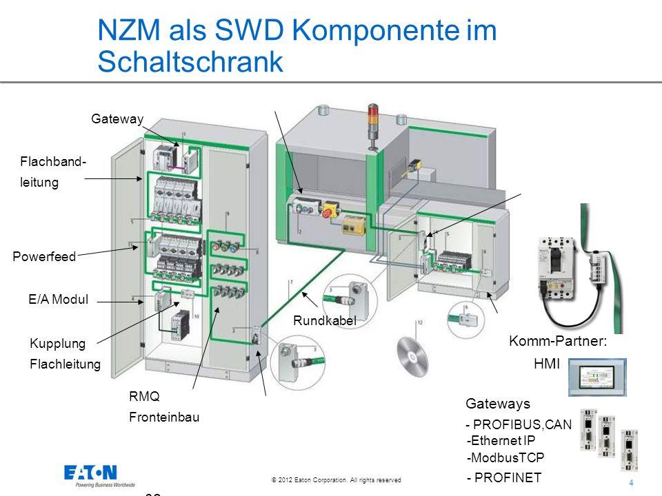 NZM als SWD Komponente im Schaltschrank