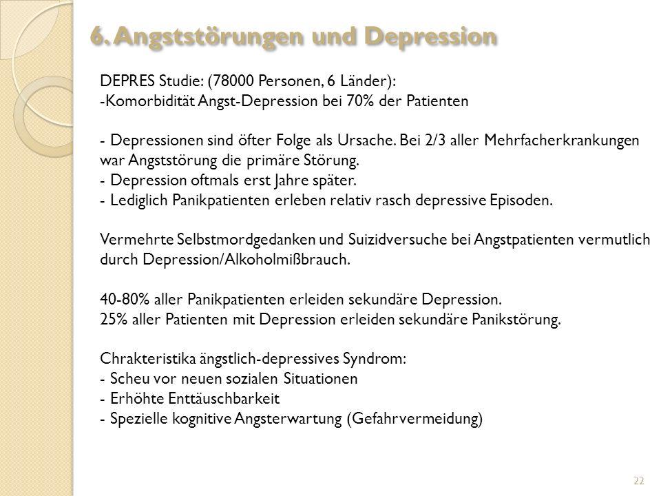 6. Angststörungen und Depression