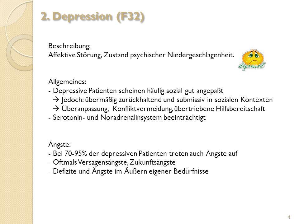 2. Depression (F32) Beschreibung: