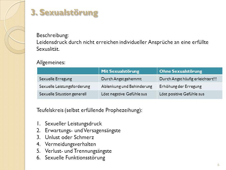3. Sexualstörung Beschreibung: