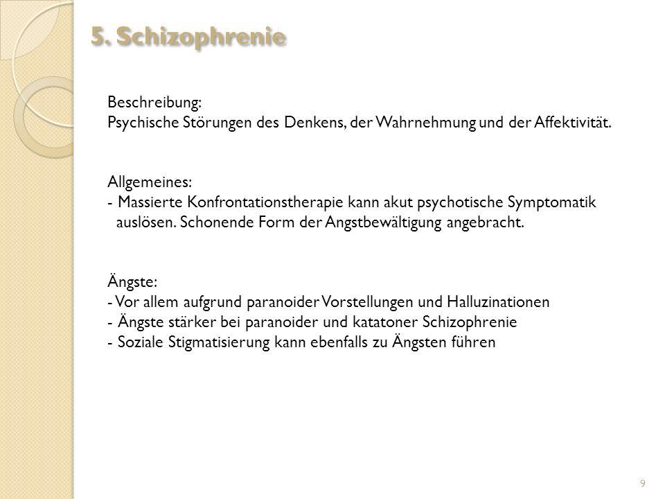 5. Schizophrenie Beschreibung:
