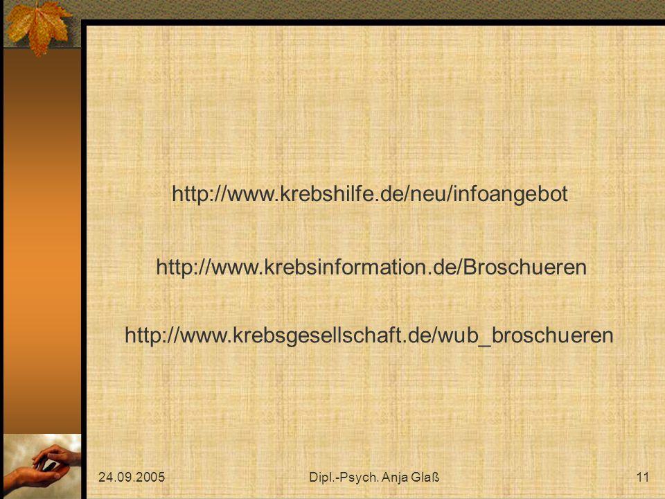 http://www.krebshilfe.de/neu/infoangebot http://www.krebsinformation.de/Broschueren. http://www.krebsgesellschaft.de/wub_broschueren.