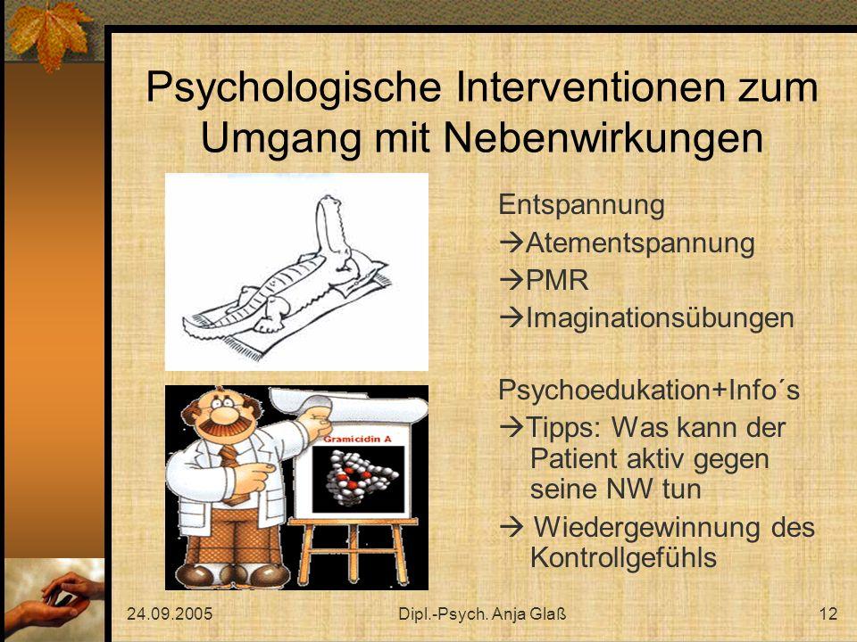 Psychologische Interventionen zum Umgang mit Nebenwirkungen