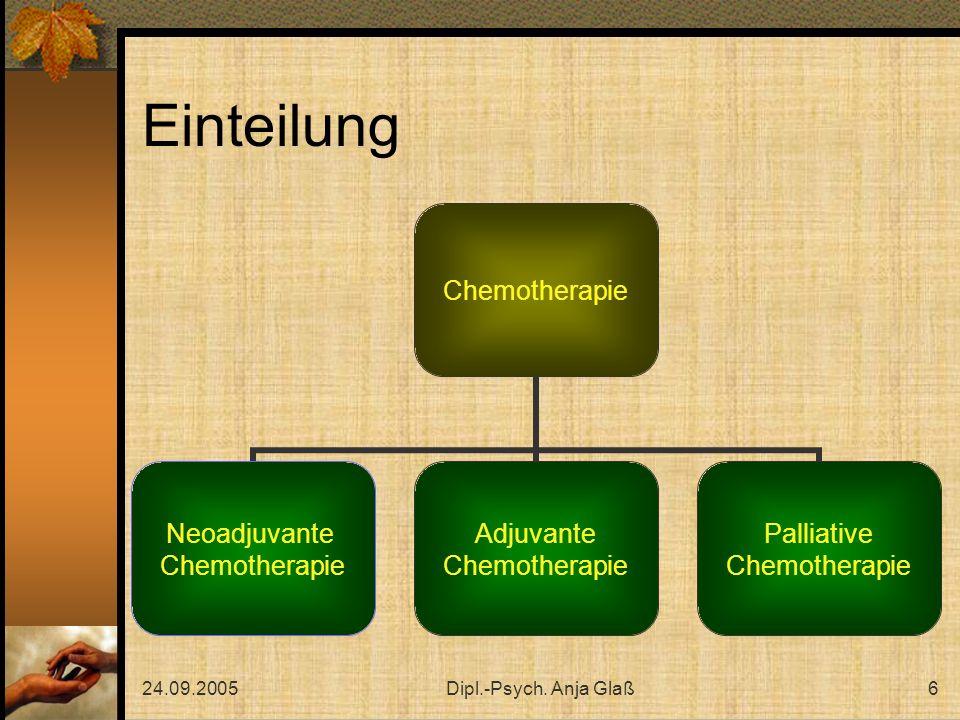 Einteilung 24.09.2005 Dipl.-Psych. Anja Glaß