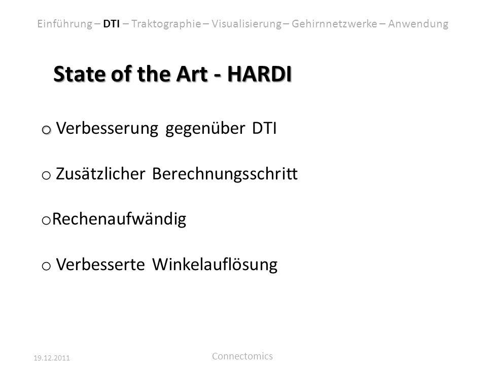 State of the Art - HARDI Verbesserung gegenüber DTI