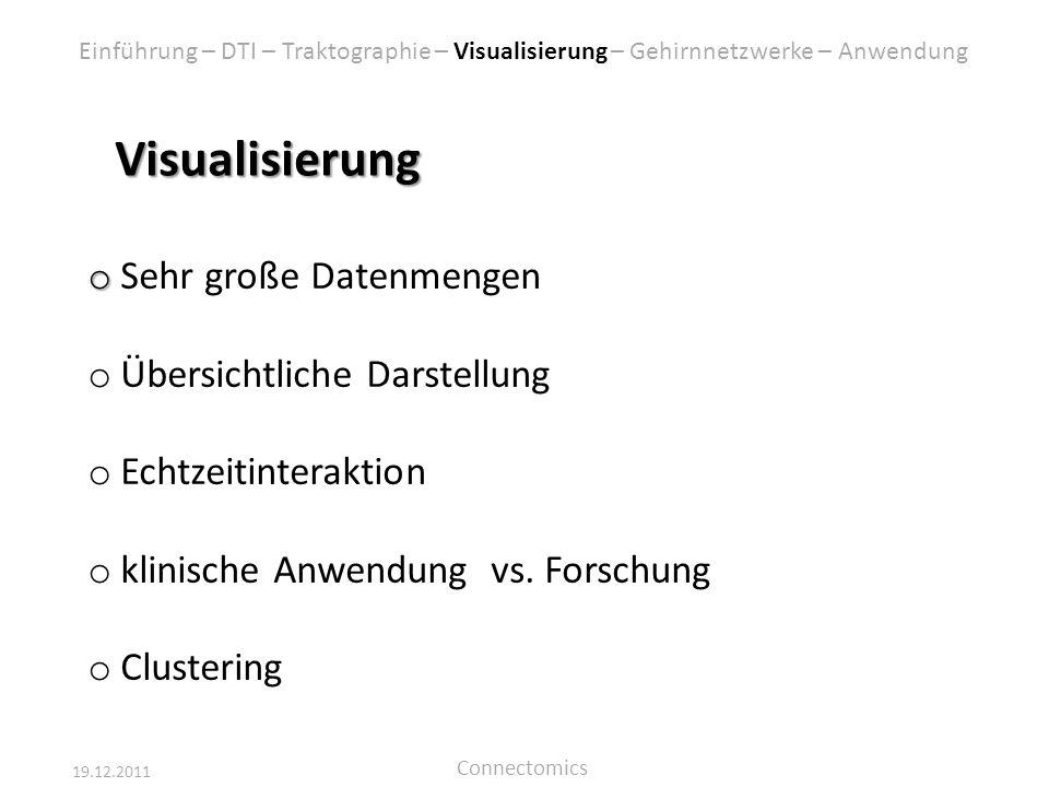 Visualisierung Sehr große Datenmengen Übersichtliche Darstellung