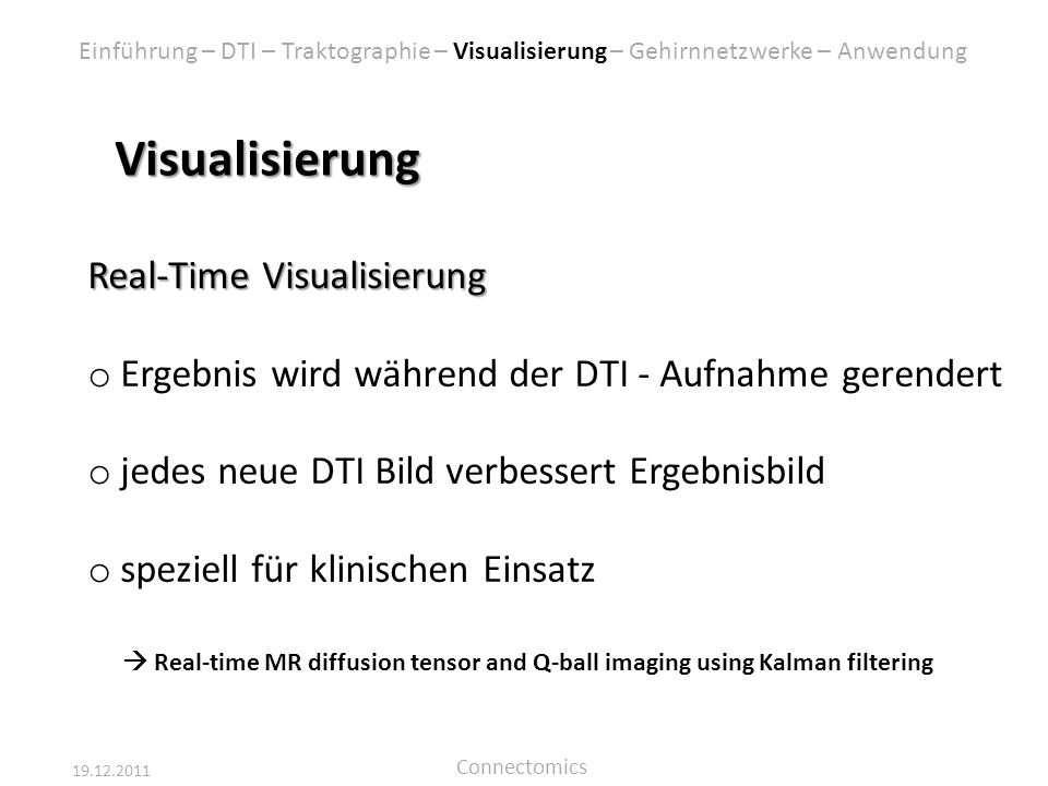 Visualisierung Real-Time Visualisierung