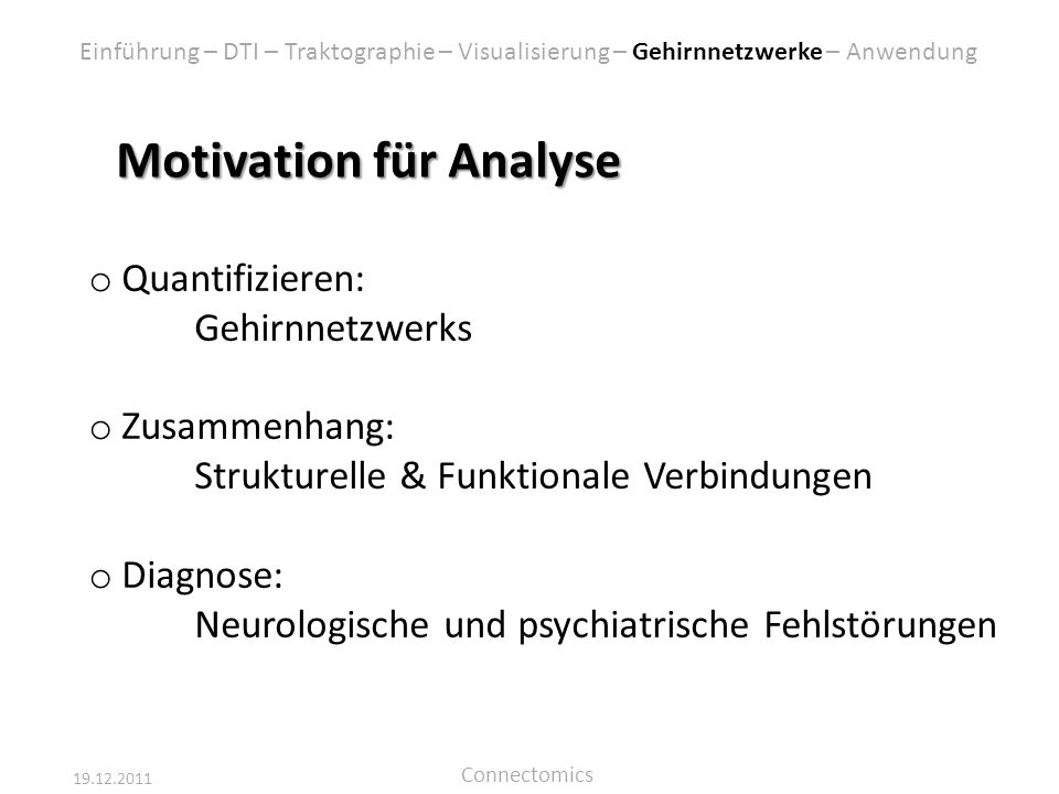 Motivation für Analyse