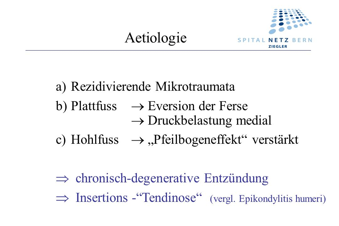 Aetiologie Rezidivierende Mikrotraumata