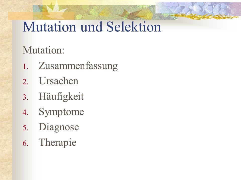 Mutation und Selektion