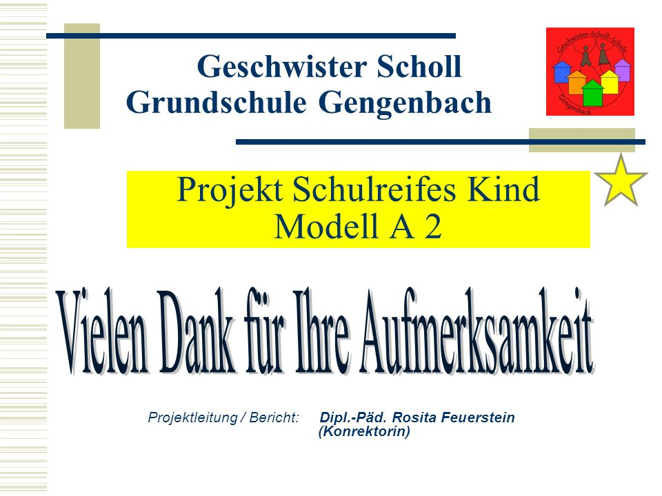 Projekt Schulreifes Kind Modell A 2