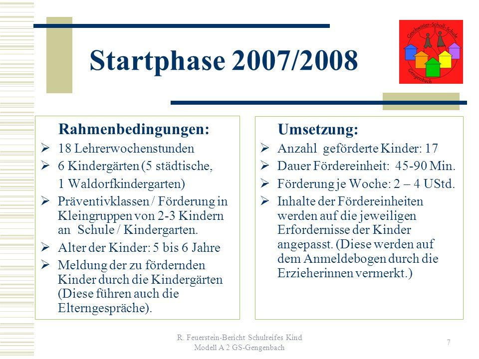 R. Feuerstein-Bericht Schulreifes Kind Modell A 2 GS-Gengenbach