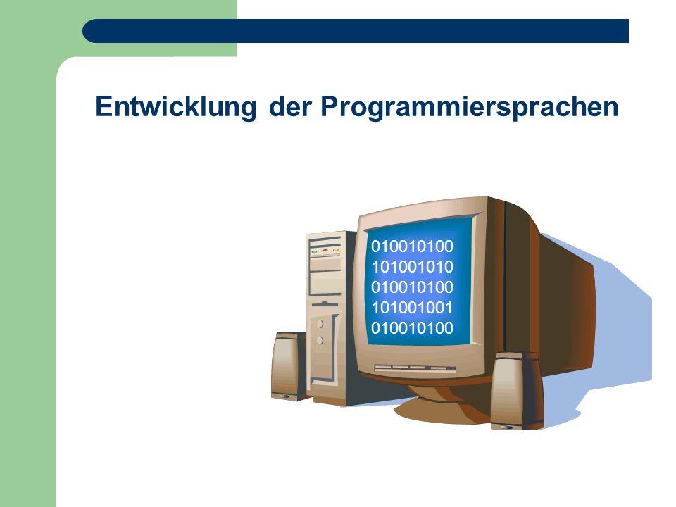 Entwicklung der Programmiersprachen
