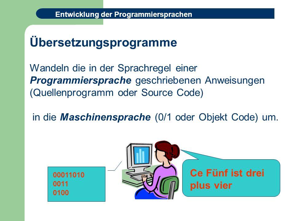 Übersetzungsprogramme