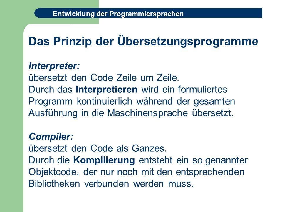 Das Prinzip der Übersetzungsprogramme