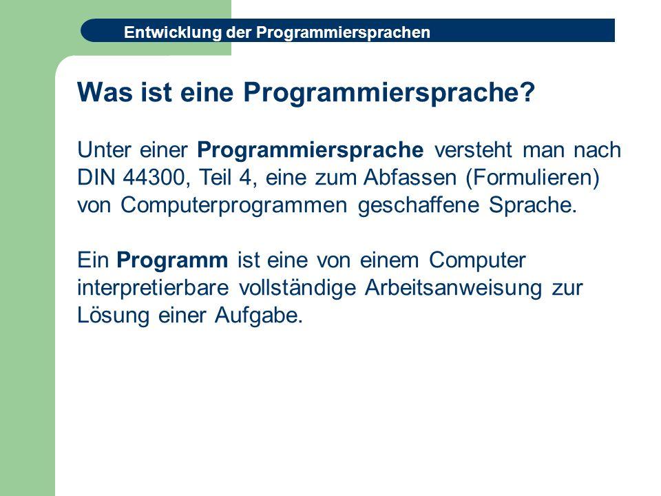 Was ist eine Programmiersprache