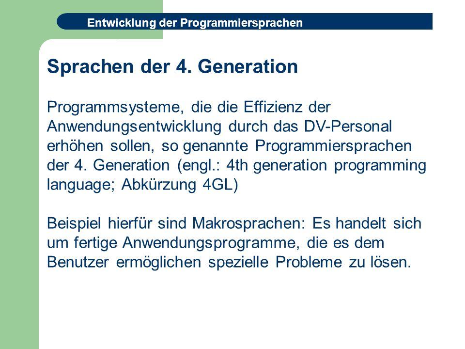 Sprachen der 4. Generation