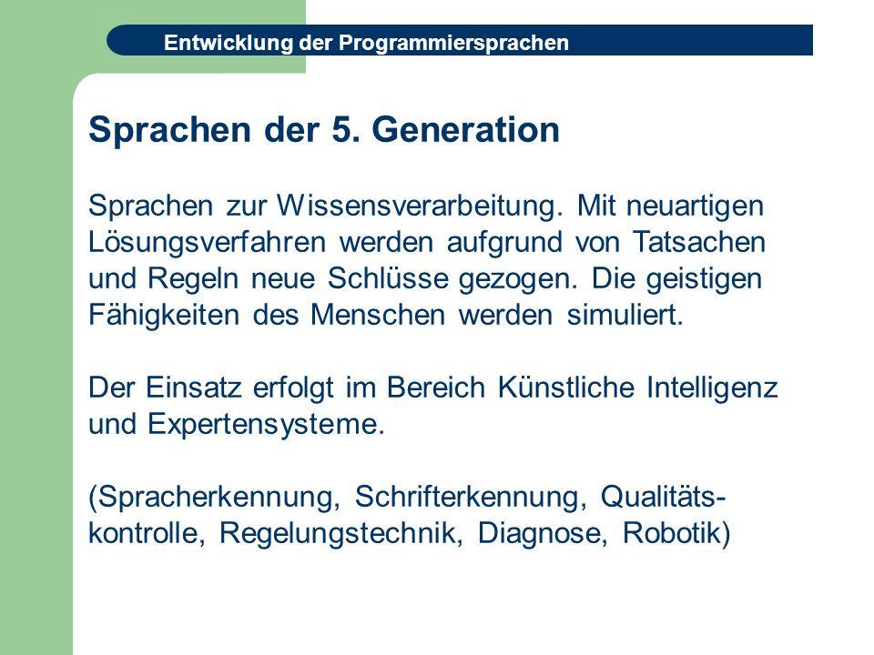 Sprachen der 5. Generation