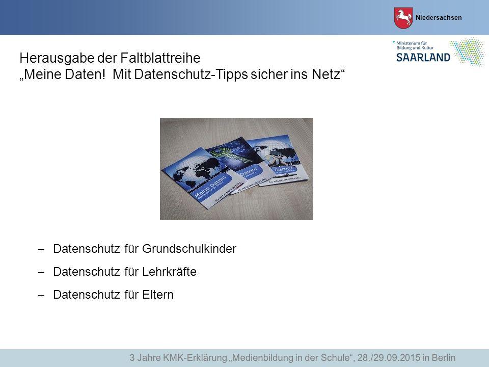 """Herausgabe der Faltblattreihe """"Meine Daten"""