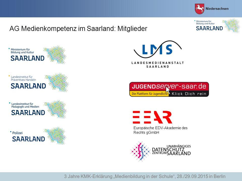AG Medienkompetenz im Saarland: Mitglieder
