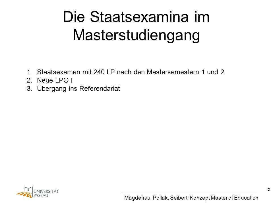Die Staatsexamina im Masterstudiengang