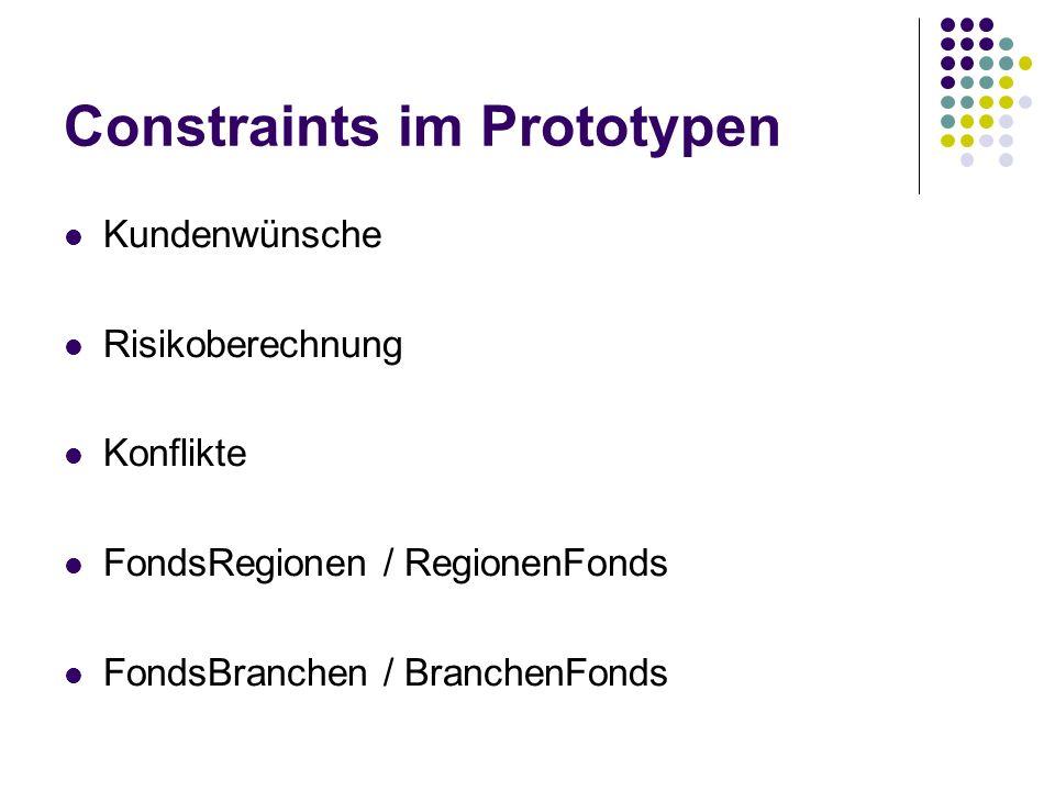 Constraints im Prototypen