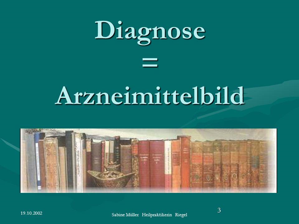 Diagnose = Arzneimittelbild