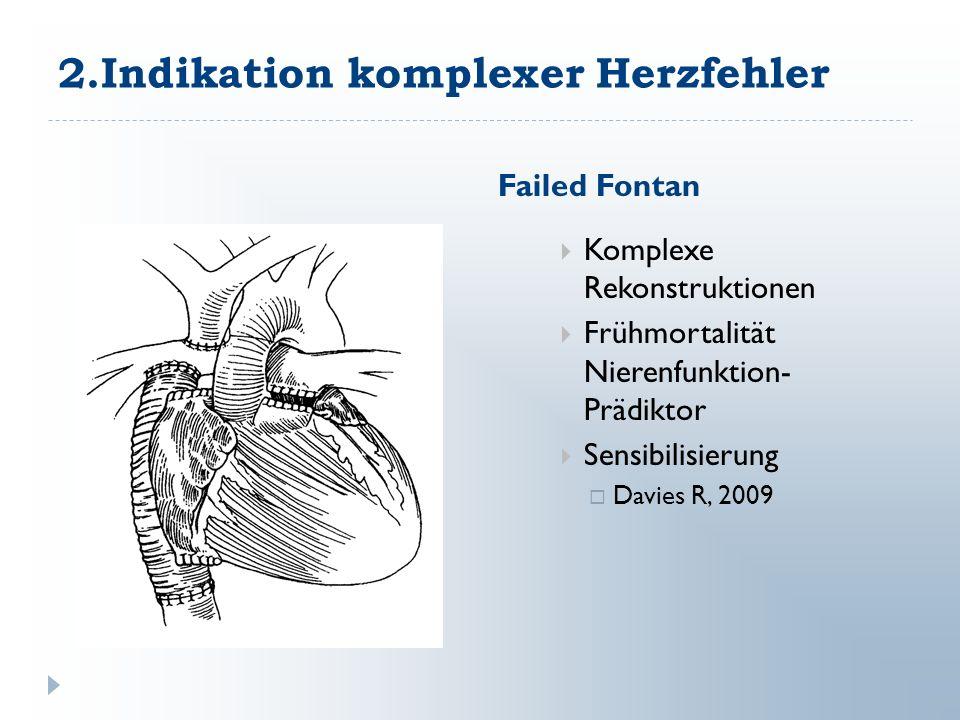 2.Indikation komplexer Herzfehler