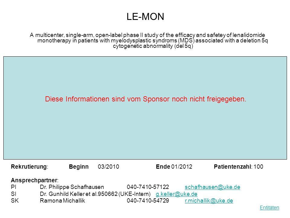 LE-MON Diese Informationen sind vom Sponsor noch nicht freigegeben.