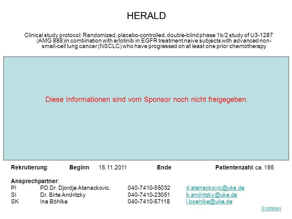 R HERALD Diese Informationen sind vom Sponsor noch nicht freigegeben.