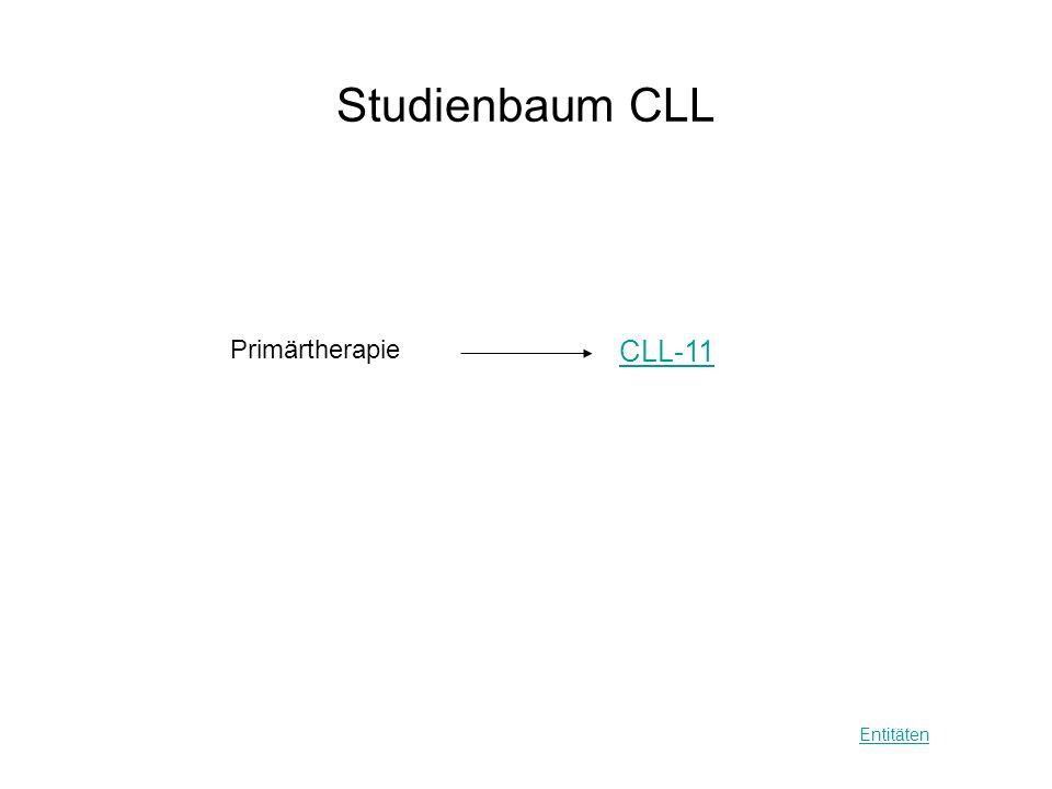Studienbaum CLL Primärtherapie CLL-11 Entitäten