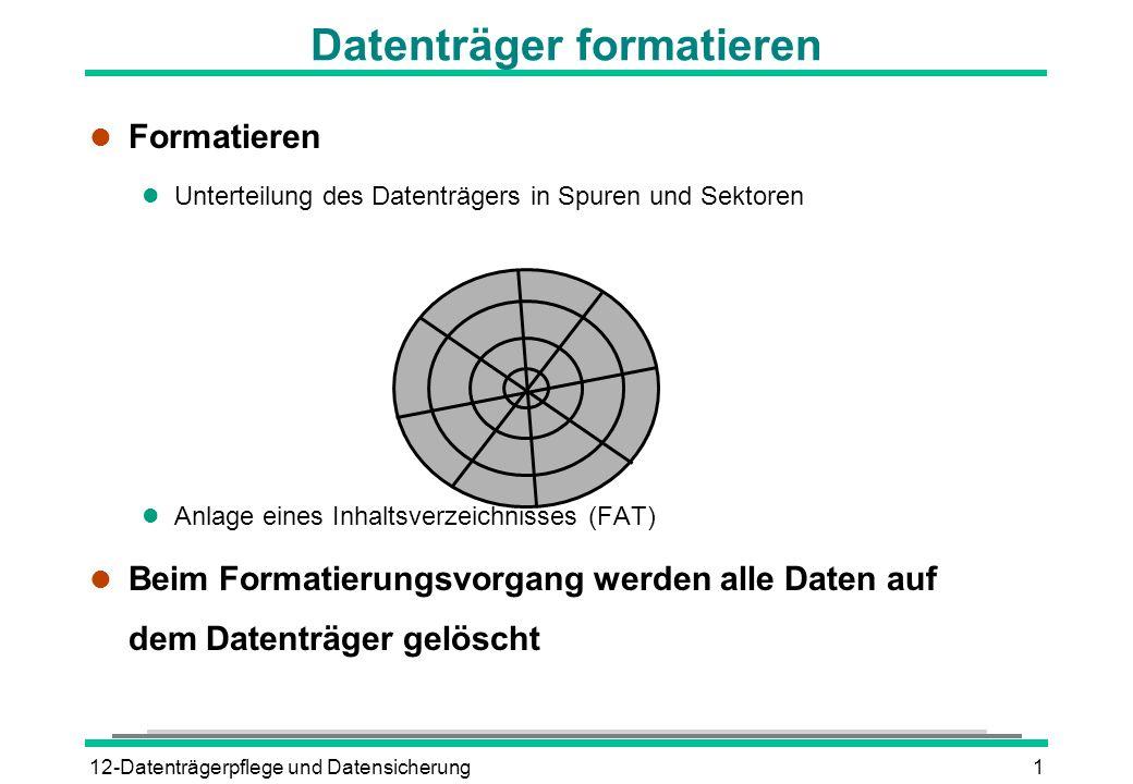 Datenträger formatieren
