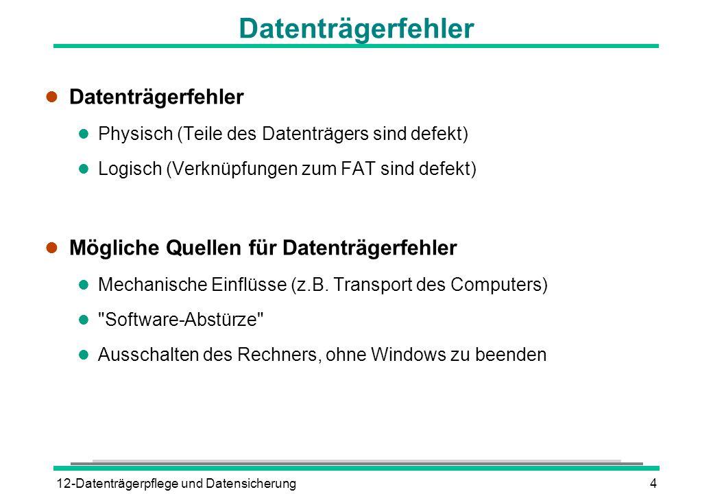 Datenträgerfehler Datenträgerfehler