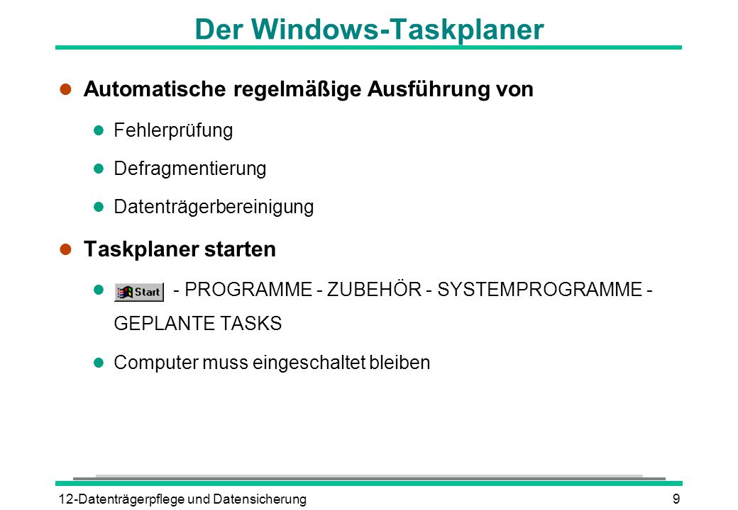 Der Windows-Taskplaner