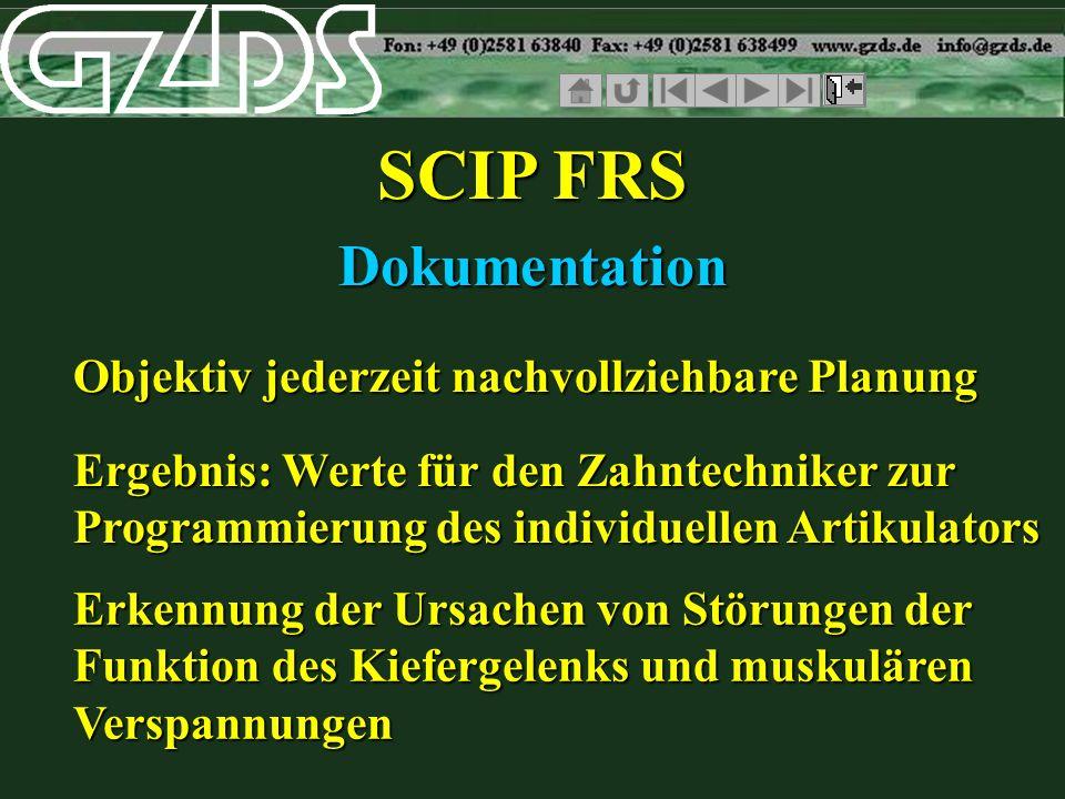 SCIP FRS Dokumentation Objektiv jederzeit nachvollziehbare Planung