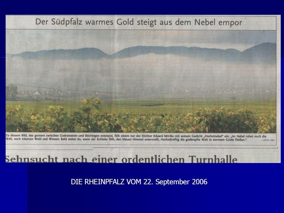 DIE RHEINPFALZ VOM 22. September 2006