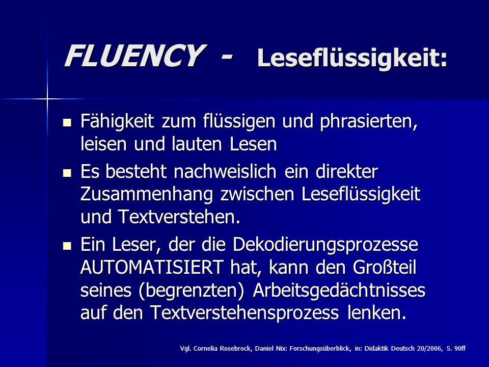 FLUENCY - Leseflüssigkeit: