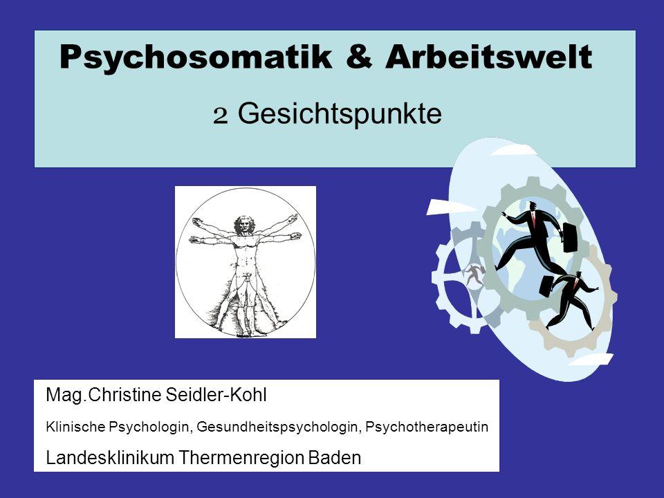 Psychosomatik & Arbeitswelt