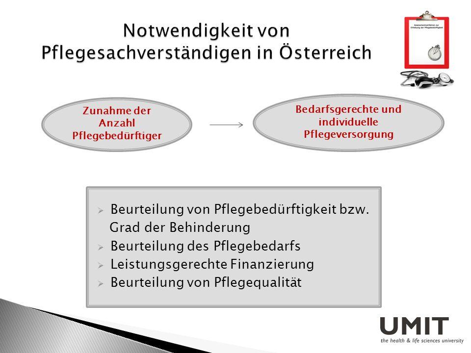 Notwendigkeit von Pflegesachverständigen in Österreich