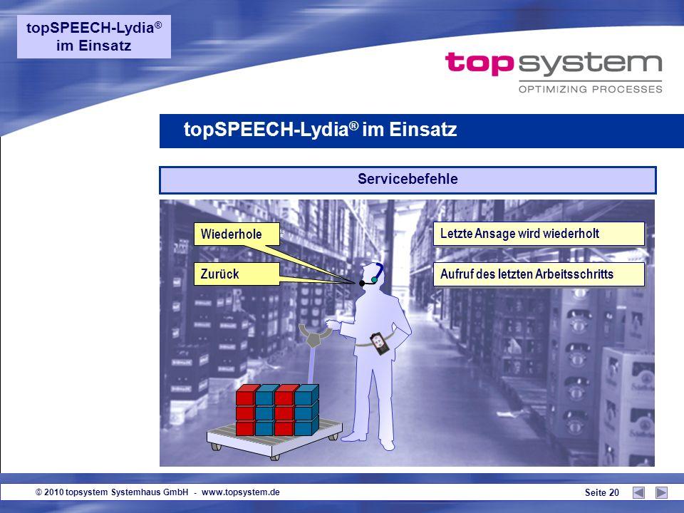 topSPEECH-Lydia® im Einsatz