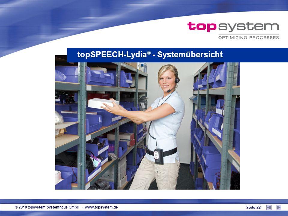 topSPEECH-Lydia® - Systemübersicht