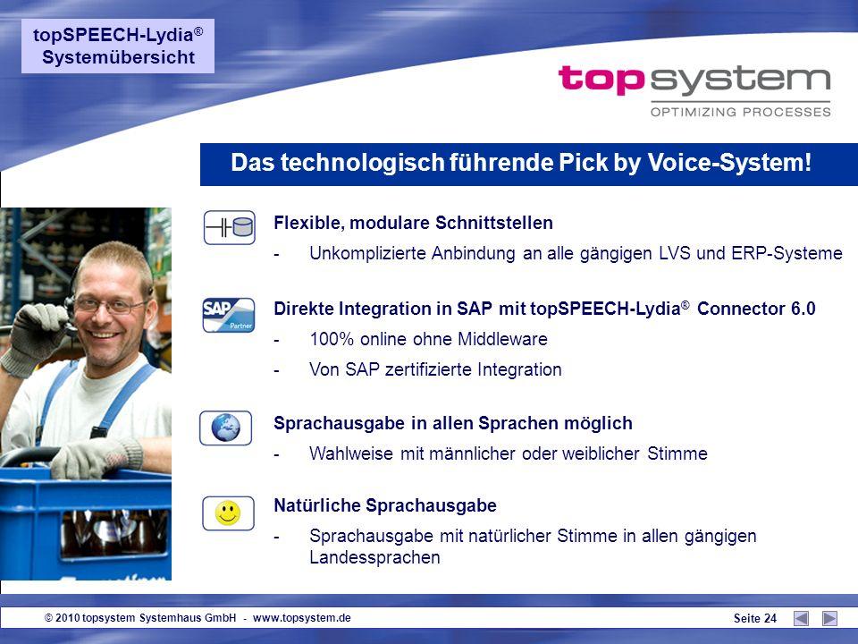 Das technologisch führende Pick by Voice-System!
