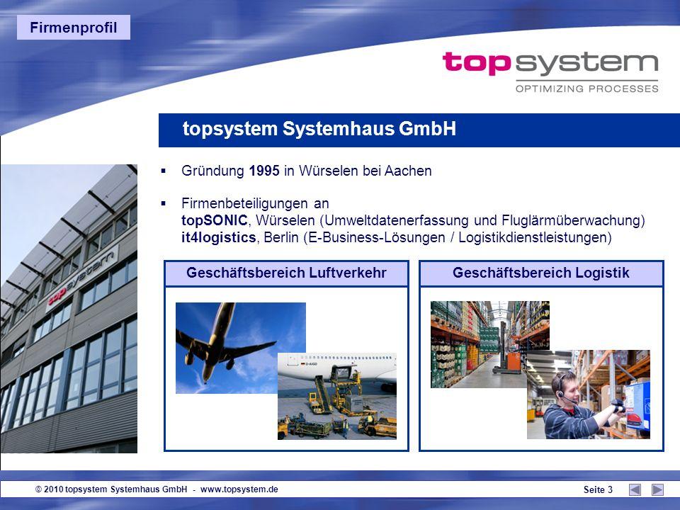 Geschäftsbereich Luftverkehr Geschäftsbereich Logistik