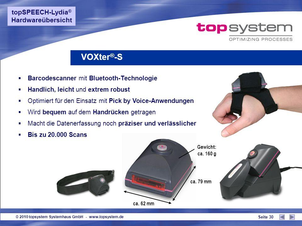 VOXter®-S topSPEECH-Lydia® Hardwareübersicht
