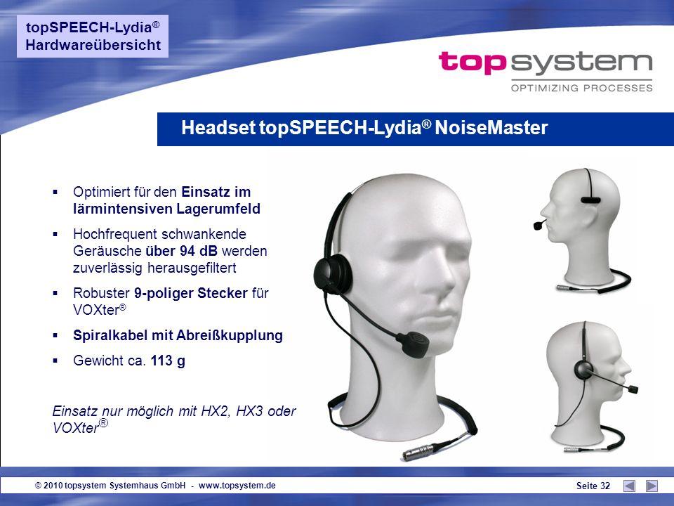 Headset topSPEECH-Lydia® NoiseMaster