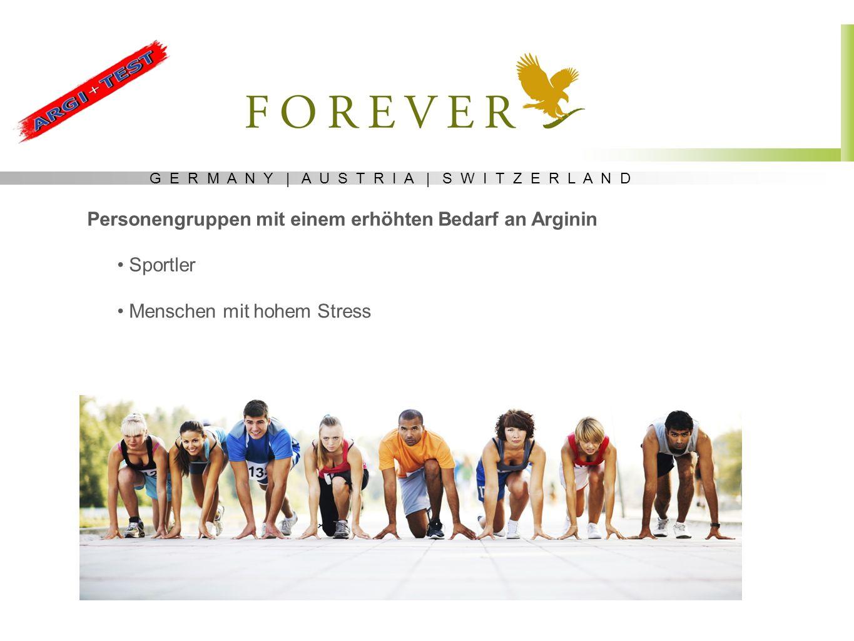 Personengruppen mit einem erhöhten Bedarf an Arginin Sportler