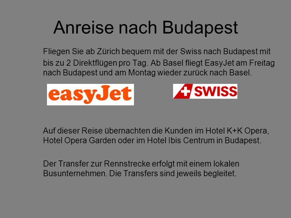 Anreise nach Budapest Fliegen Sie ab Zürich bequem mit der Swiss nach Budapest mit.