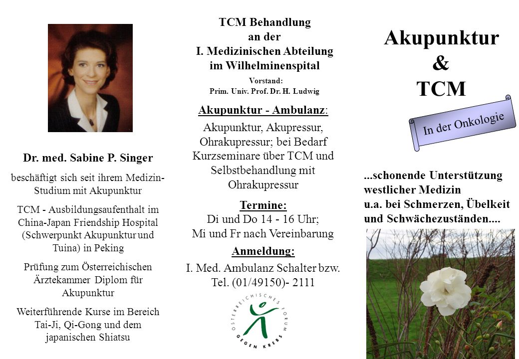 I. Medizinischen Abteilung Prim. Univ. Prof. Dr. H. Ludwig