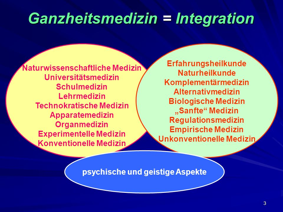 Ganzheitsmedizin = Integration