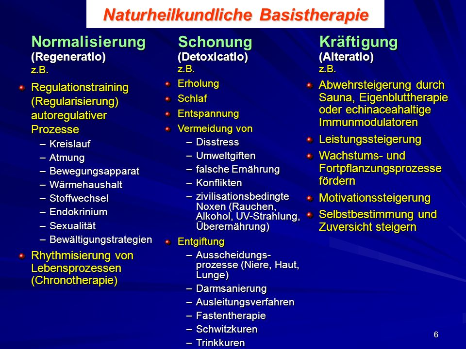 Naturheilkundliche Basistherapie